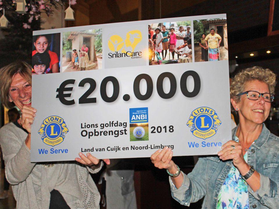 Veertiende Lions Golf Dag: € 20.000 voor goed doel